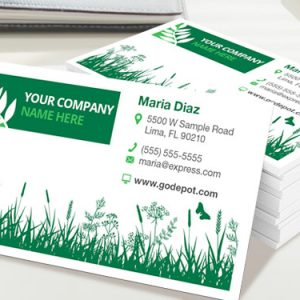 1 side business cards